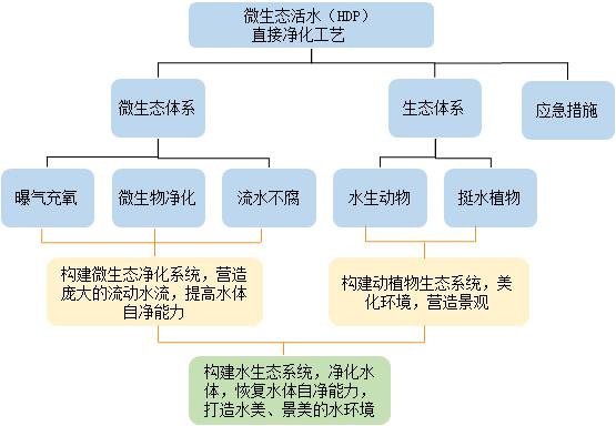 微生态活水(HDP)直接净化工艺